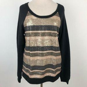 Victoria's Secret Medium Sweatshirt Stripe Sequin